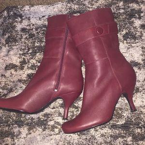 Women's Kenneth Kole Burgundy Boots